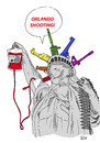 Cartoon: Orlando Shooting (small) by Joen Yunus tagged orlando,shooting,guns,lgbt,usa,cartoon,drawing,satirical