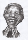 Cartoon: RIP Mandela (small) by Joen Yunus tagged caricature,charcoal,mandela