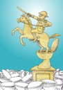 Cartoon: The Conqueror (small) by Joen Yunus tagged cartoon,conqueror,conflicts,war