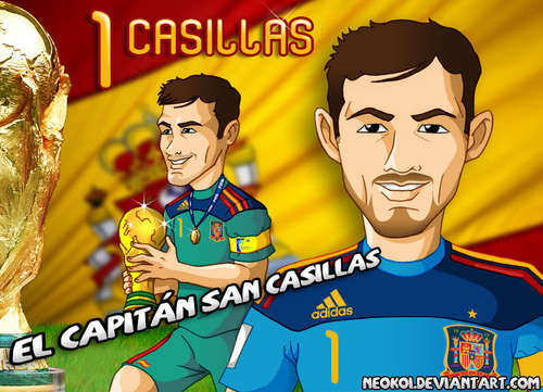 Cartoon: Casillas (medium) by Neokoi tagged iker,casillas,spain