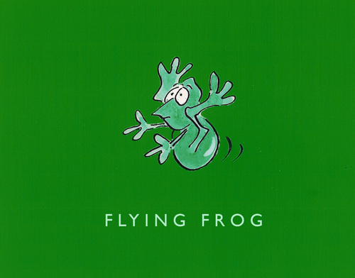 Cartoon: Flying Frog (medium) by helmutk tagged illustration