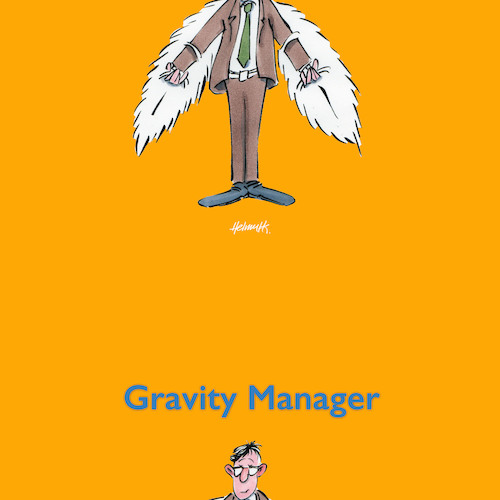 Cartoon: Gravity Manager (medium) by helmutk tagged business