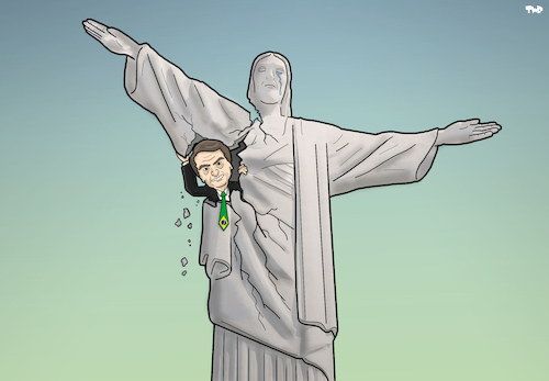 Cartoon: Elections in Brazil (medium) by Tjeerd Royaards tagged brazil,democracy,president,elections,brazil,democracy,president,elections