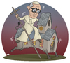 Cartoon: A Challenging Job (small) by Tjeerd Royaards tagged pope,rome,god,church,francis,vatican,faith,catholic,argentina