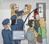 Cartoon: Airport Security (small) by Tjeerd Royaards tagged germanwings,pilot,air,airport,safety,security,crash,suicide,mental,problems