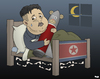 Cartoon: Night Terrors (small) by Tjeerd Royaards tagged north,korea,kim,jong,un,nuclear,missiles,war,conflict