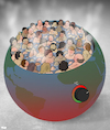 Cartoon: Overcrowded Hot Tub (small) by Tjeerd Royaards tagged world,planet,climate,people,earth