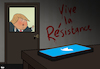 Cartoon: Resistance in the White House (small) by Tjeerd Royaards tagged oppose,resists,trump,usa,america,stop