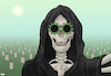 Cartoon: Selfie (small) by Tjeerd Royaards tagged corona,pandemic,death,toll,victims