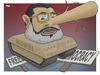 Cartoon: The Guardian of the Revolution (small) by Tjeerd Royaards tagged egypt,morsi,dictator,democracy,opposition,muslim,brotherhood,freedom
