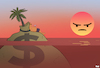 Cartoon: Tropical Sunset (small) by Tjeerd Royaards tagged paradise,papers,tax,evasion,rich,public,outrage,anger