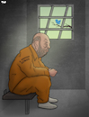 Cartoon: Weinstein (small) by Tjeerd Royaards tagged metoo,me,too,hashtag,rape,prison,cell,twitter