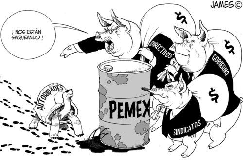 Cartoon: los verdaderos Defraudaores (medium) by JAMEScartoons tagged corrupcion,pemex,fraude