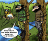 Cartoon: Environmentalists (small) by JARO tagged environmentalists,protest,greenpeace