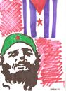 Cartoon: fidel castro (small) by Seydi Ahmet BAYRAKTAR tagged fidel castro