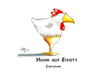 Cartoon: Huhn auf Eipott (small) by Henrich tagged natürlch