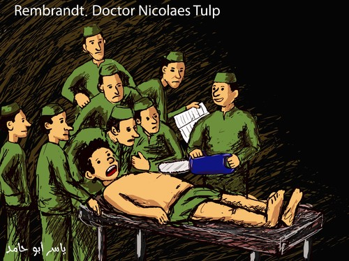 Cartoon: Doctor Nicolaes (medium) by yaserabohamed tagged rambrant