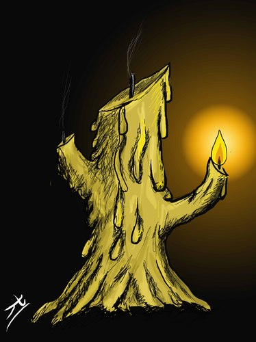 Cartoon: idea (medium) by yaserabohamed tagged candle