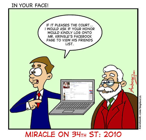Cartoon: Miracle on 34th st 2010 (medium) by Gopher-It Comics tagged gopherit,ambrose,santaclaus,christmas