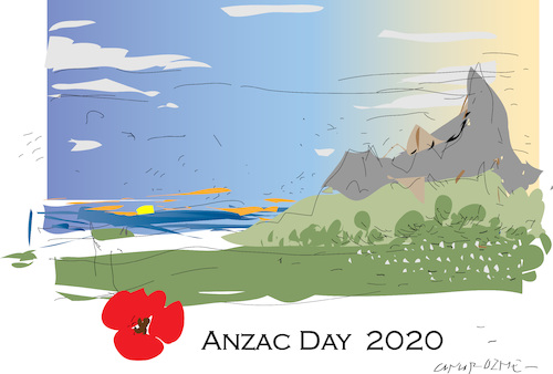 Cartoon: Anzac Day 2020 (medium) by gungor tagged australia,australia