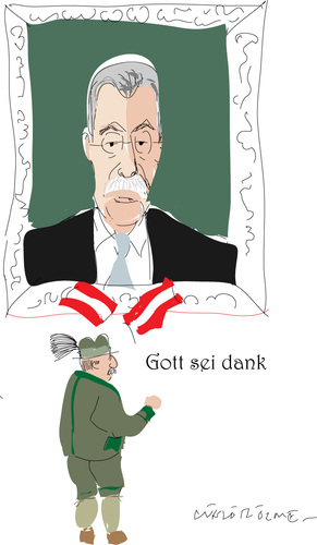 Cartoon: A.Van der bellen (medium) by gungor tagged austria