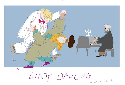 Cartoon: Dirty Dancing 10 (medium) by gungor tagged usa