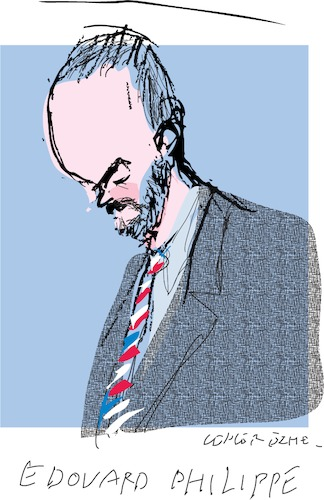Cartoon: Edouard Philippe (medium) by gungor tagged france,france,frankreich,edouard,philippe