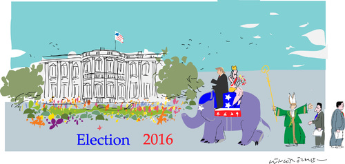 Cartoon: Election 2016 A (medium) by gungor tagged united,states