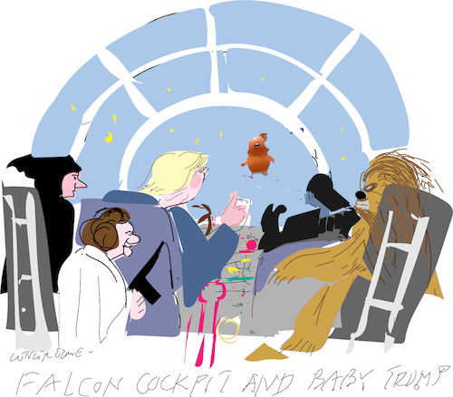Cartoon: Falcon Cockpit (medium) by gungor tagged movie,movie