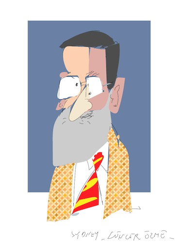 Cartoon: Mariona Rajoy (medium) by gungor tagged spain