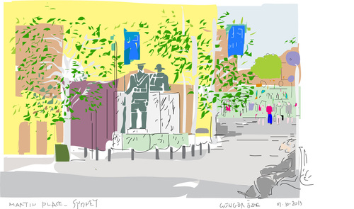 Cartoon: Martin Place-Sydney (medium) by gungor tagged australia