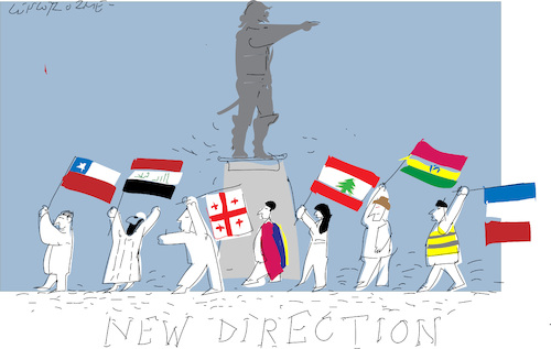 Cartoon: New Direction (medium) by gungor tagged world,world