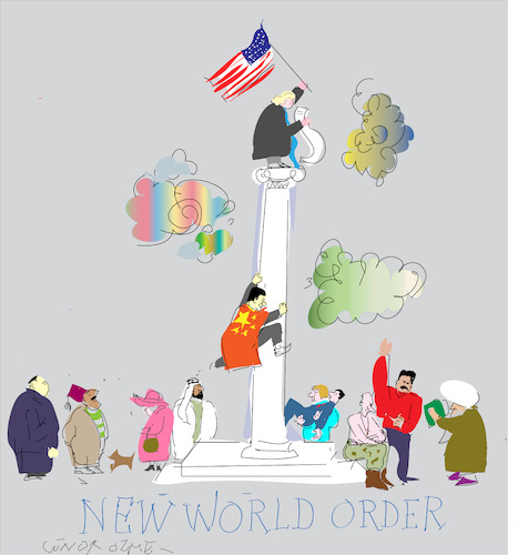 Cartoon: New World Order (medium) by gungor tagged world,world