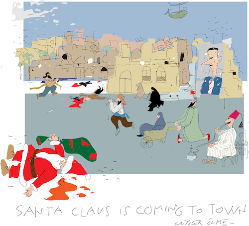 Cartoon: Santa is coming (medium) by gungor tagged middle,east