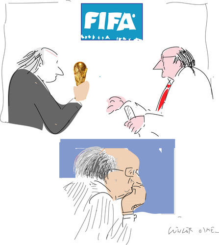 Cartoon: Sepp Blatter 2 (medium) by gungor tagged football