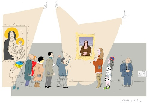 Cartoon: The Mona Lisa (medium) by gungor tagged france