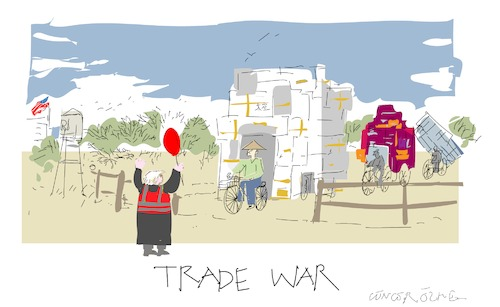 Cartoon: Trade war (medium) by gungor tagged usa