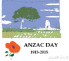 Cartoon: Anzac Day (small) by gungor tagged australia