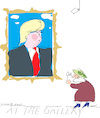 Cartoon: At the Gallery (small) by gungor tagged free,time