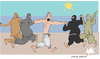 Cartoon: Bathers (small) by gungor tagged france