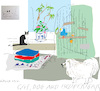Cartoon: Cat Dog  Budgerigar (small) by gungor tagged pets