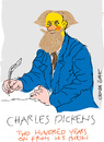 Cartoon: Charles Dickens-2 (small) by gungor tagged literature