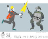 Cartoon: Duel in Hong Kong (small) by gungor tagged hong,kong