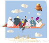 Cartoon: Magic Carpet (small) by gungor tagged magic