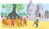 Cartoon: Monks against defrostation (small) by gungor tagged monks