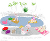Cartoon: Pool girls and Covid 19 (small) by gungor tagged pandemic