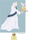 Cartoon: Queen Elizabeth II (small) by gungor tagged uk