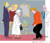 Cartoon: Queen visit to Germany (small) by gungor tagged uk