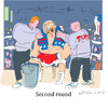 Cartoon: second round (small) by gungor tagged usa