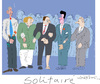 Cartoon: solitaire (small) by gungor tagged france